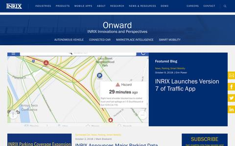Screenshot of Blog inrix.com - INRIX Parking Data Coverage Expansion - INRIX Parking - captured Nov. 18, 2018