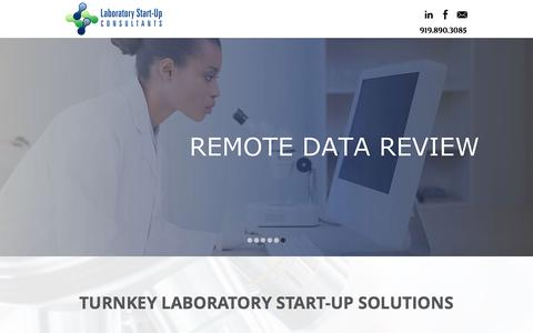 Screenshot of Home Page laboratorystartupconsultants.com - Laboratory Start-Up Consultants | Turnkey Solutions - captured July 10, 2016