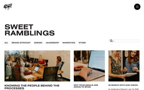 Screenshot of Blog syrupmarketing.com - Sweet Ramblings   Syrup Branding & Digital Marketing Blog - captured Jan. 31, 2020