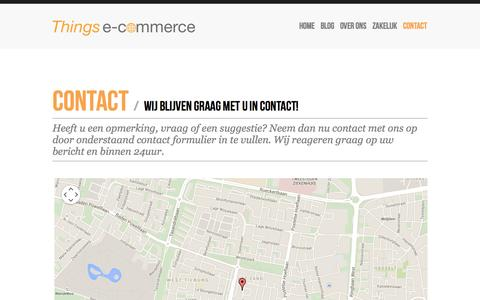 Screenshot of Contact Page thingsecommerce.nl - Things e-commerce | - captured Oct. 9, 2014