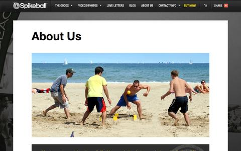 Screenshot of About Page spikeball.com - About Us | Spikeball Store | Backyard Game, Beach game, Competitive. - captured Sept. 19, 2014