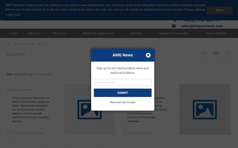 Screenshot of Support Page amgsystems.com - Support | AMG Systems - captured Dec. 17, 2018