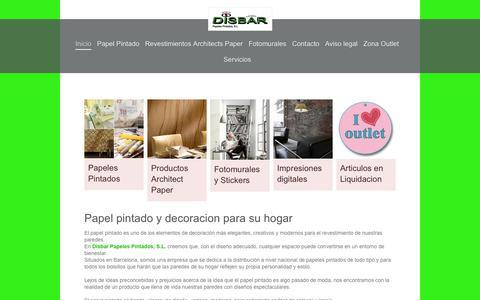 Screenshot of Home Page disbar.info - Papel pintado y decoración del hogar-Disbar Papeles Pintados, S.L. - captured Oct. 5, 2014