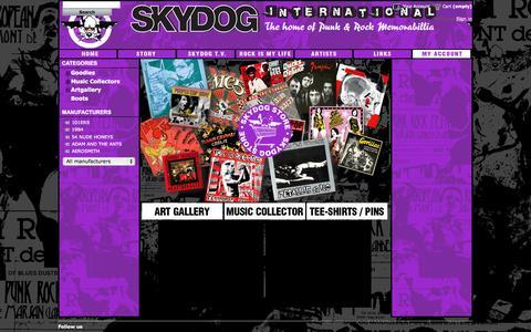 Screenshot of Home Page skydog.fr - Skydog Shop - captured Sept. 27, 2015