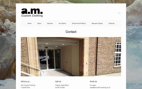Screenshot of Contact Page amcustomclothing.co.uk - Contact   AM Custom Clothing - captured Oct. 4, 2014