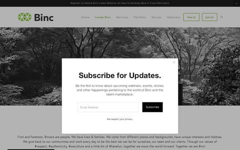 Screenshot of Team Page bincsearch.com - Team — Binc - captured May 24, 2019