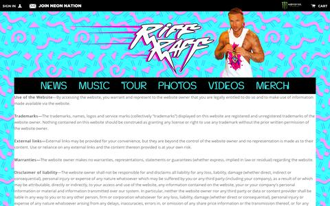 Screenshot of Terms Page jodyhighroller.com - Terms & Conditions Đ Riff Raff - captured Jan. 15, 2016
