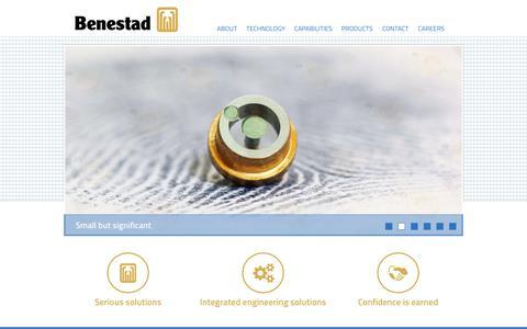 Screenshot of Home Page benestad.com - Home - captured Jan. 25, 2015