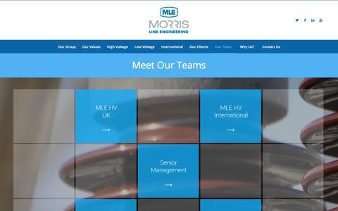 Screenshot of Team Page morrisline.co.uk - Our Team - Morris Line Engineering - captured Nov. 6, 2017