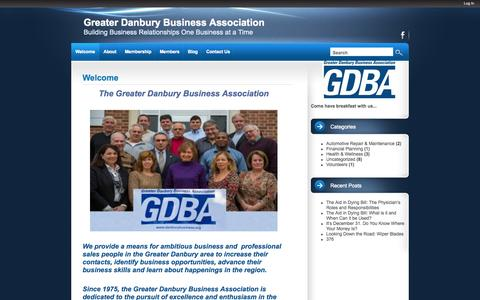 Screenshot of Home Page danburybusiness.org - Greater Danbury Business Association | Building Business Relationships One Business at a Time - captured Oct. 1, 2014