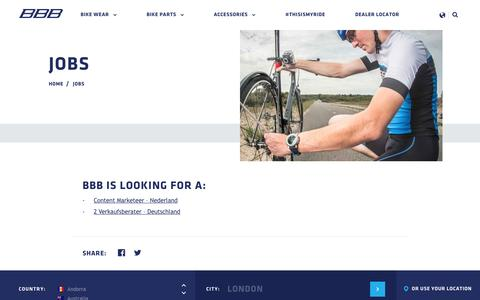 Screenshot of Jobs Page bbbcycling.com - BBB Cycling - Jobs - captured April 12, 2017