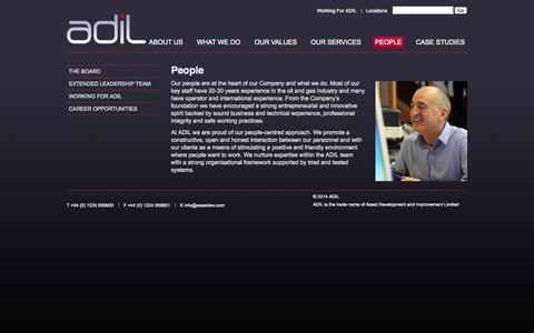 Screenshot of Team Page assetdev.com - People - ADIL - captured Oct. 1, 2014