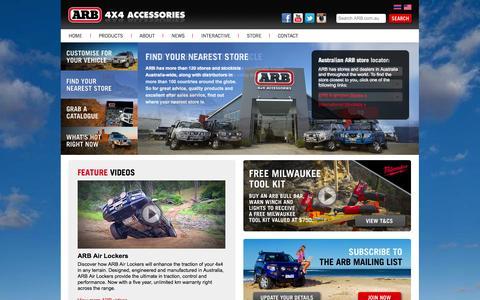 Screenshot of Home Page arb.com.au - ARB 4x4 Accessories - captured Sept. 19, 2014