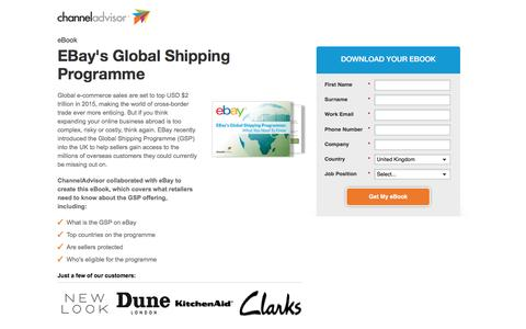 Screenshot of Landing Page channeladvisor.com - eBay's Global Shipping Programme - captured Feb. 25, 2017