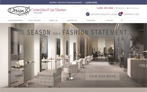 Screenshot of Home Page salonfurniture.com - Design X Mfg | Salon Equipment, Salon Furniture, Pedicure Spa - captured Feb. 9, 2016