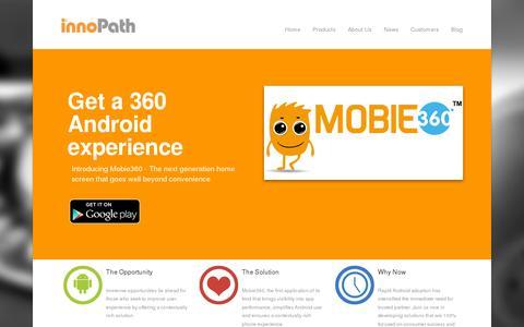 Screenshot of Home Page innopath.com - innoPath - captured July 11, 2014