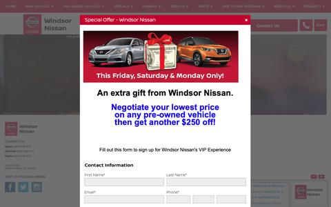 Screenshot of Maps & Directions Page windsornissan.com - Location Map & Directions - Windsor Nissan - captured Oct. 20, 2018