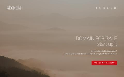 Screenshot of Home Page start-up.it - Start-up.it | Venditadomini.net - captured March 28, 2016