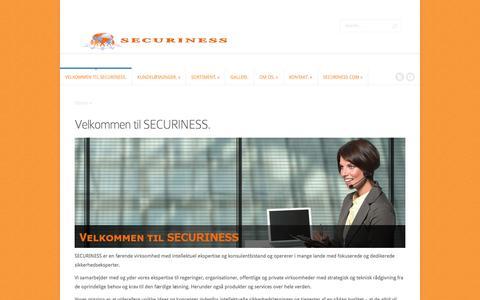 Screenshot of Home Page securiness.com - SECURINESS | SECURINESS præsentation - captured July 20, 2016