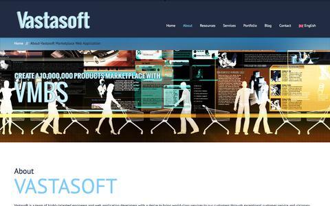 Screenshot of About Page vastasoft.com - About-Vastasoft Marketplace Web Application - captured July 8, 2018