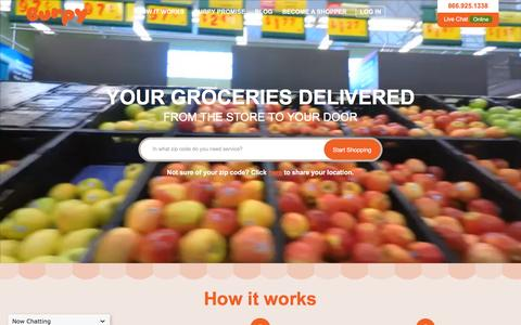 Screenshot of Home Page burpy.com - Grocery Delivery, Grocery Store, Online Grocery Shopping in Austin :: Burpy.com - captured Feb. 8, 2016