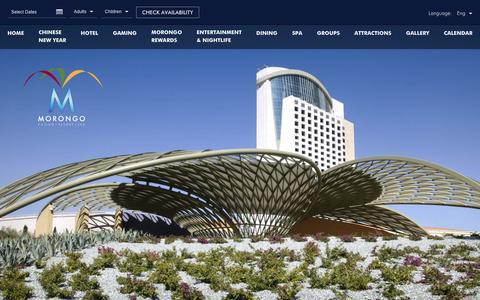 Screenshot of About Page morongocasinoresort.com - Native American Casino | Morongo Casino Resort - captured Feb. 2, 2017