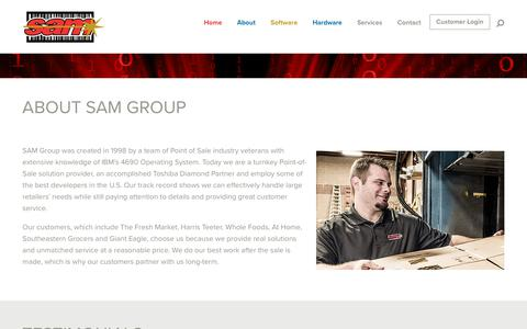 Screenshot of About Page samgroup.com - About Sam Group - SAM Group - captured Sept. 29, 2017