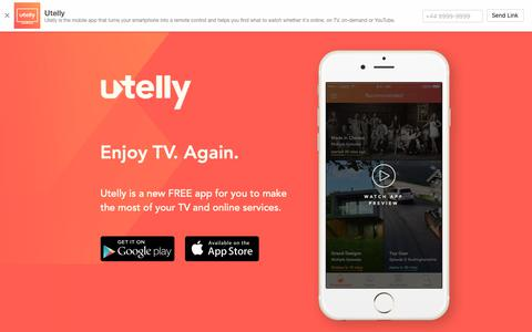 Screenshot of Site Map Page utelly.com - Utelly - Enjoy TV. Again - captured Oct. 19, 2018