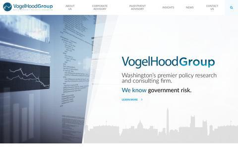 Screenshot of Home Page vogelhood.com - Home - VogelHood Group - captured Dec. 9, 2016