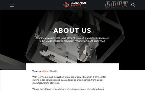 Screenshot of About Page blackmanandwhite.com captured Nov. 6, 2018