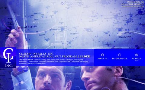 Screenshot of Home Page classicinstalls.com - Classic Installs, Inc. North Americas Roll Out Program Leader - captured Oct. 2, 2014