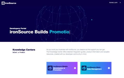 Welcome to Developers Portal - IronSource Knowledge Center