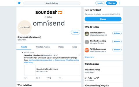 Tweets by Soundest (Omnisend) (@soundest) – Twitter