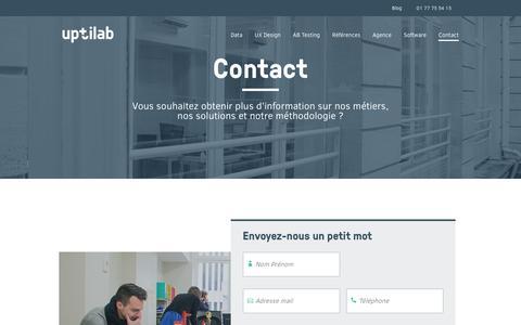 Screenshot of Contact Page uptilab.com - Contact - Uptilab - captured July 9, 2016