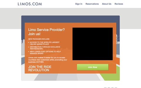 Screenshot of Signup Page limos.com - Marketing Services for Limo Companies| Limos.com - captured Oct. 10, 2017