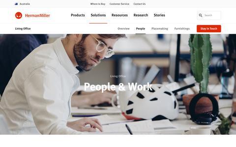 Screenshot of Team Page hermanmiller.com - Living Office – People & Work – Herman Miller - captured Oct. 21, 2018