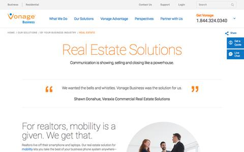 Real Estate Solutions | Vonage Business
