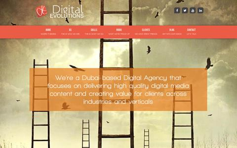 Screenshot of Home Page digitalevolutions.ae - Web Design & Web Development Company in Dubai | Digital Evolutions - captured Aug. 6, 2018