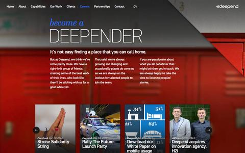 Screenshot of Jobs Page deepend.com.au - Careers | Digital Agency - captured Sept. 19, 2014