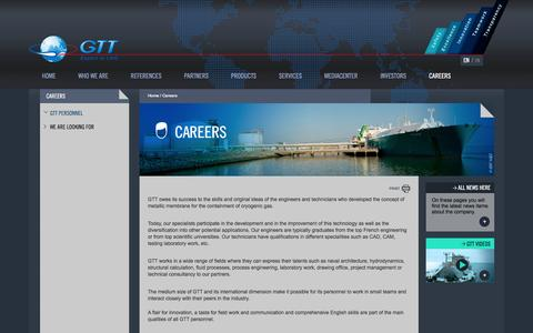 Screenshot of Jobs Page gtt.fr - Careers | GTT - captured Oct. 22, 2014