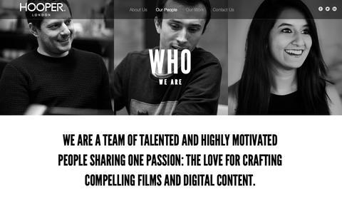 Screenshot of Team Page wearehooper.com - Our People | Hooper - captured Sept. 29, 2018
