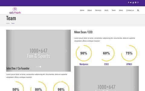 Screenshot of Team Page admarkgulf.com - Team - captured Nov. 5, 2015