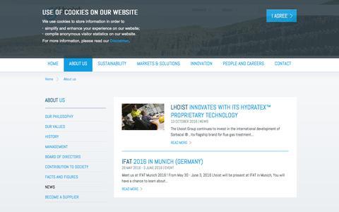 Screenshot of Press Page lhoist.com - Lhoist - Minerals and lime producer - captured July 19, 2018