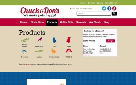 Screenshot of Products Page chuckanddons.com - Products Archive | Chuck & Don's - captured Sept. 23, 2014