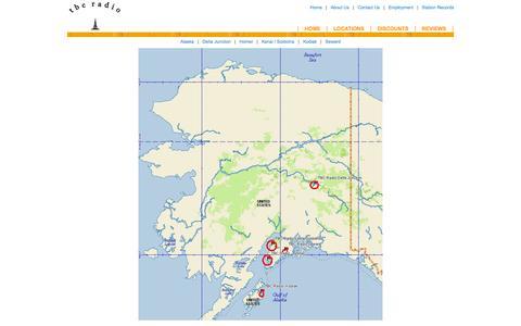 Screenshot of Locations Page tbcradio.com - TBC Radio: Locations - captured Oct. 9, 2014