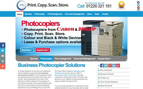 Screenshot of Home Page photocopier-photocopier.co.uk - Business Photocopier Solutions | Copier Systems Ltd - captured Oct. 3, 2014