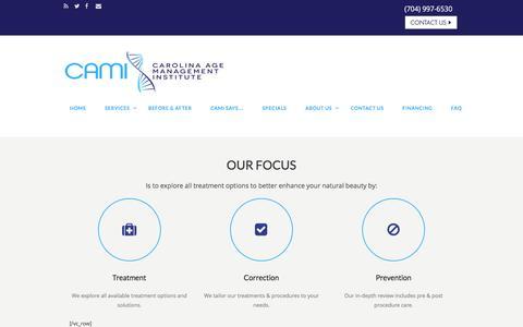 Screenshot of About Page carolinaagemanagement.com - About Us –  Carolina Age Management Institute - captured Oct. 25, 2016