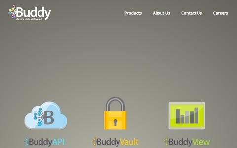 Screenshot of Products Page buddy.com - Buddy | Products - captured Nov. 3, 2014