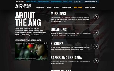 Screenshot of About Page goang.com - Air National Guard - captured Nov. 2, 2014