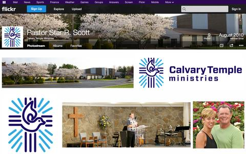 Screenshot of Flickr Page flickr.com - Flickr: Calvary Temple Ministries' Photostream - captured Oct. 22, 2014